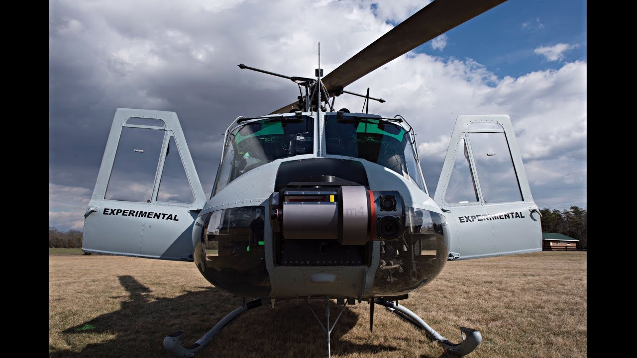 Photo of The Autonomous Aerial Cargo/Utility System (AACUS) fully autonomous helicopter.