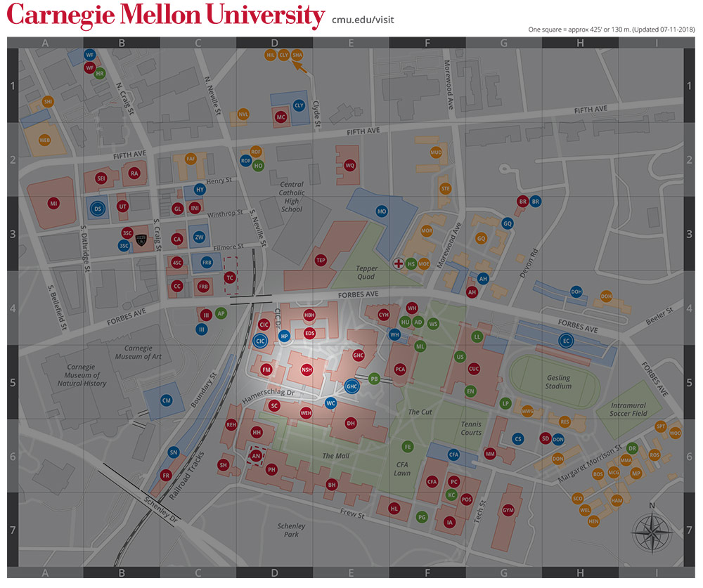 Catholic University Map on