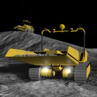 Portrait of Lunar Regolith Excavation and Transport