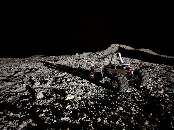 Image of rover on the moon.
